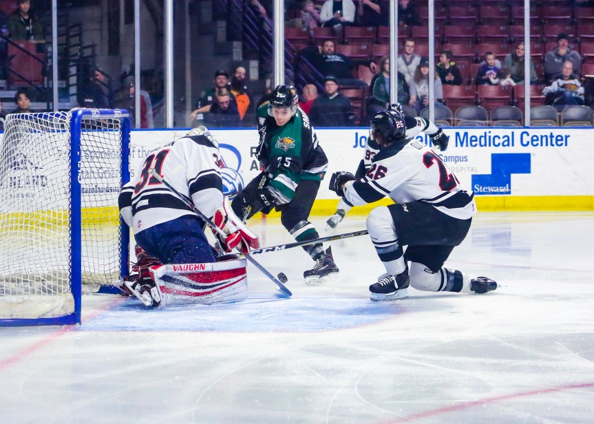 Utah Grizzlies vs Rapid  City: Unfortunately, Carlson